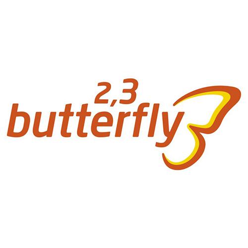 Logo 2,3 butterfly - Schmetterling Gruppenreisen